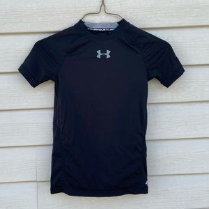 Under Armour Youth Small Black Fitted T-Shirt